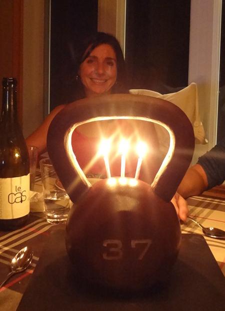 Kettlebell et bougies